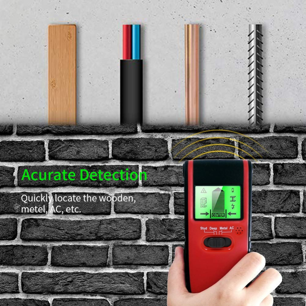 4 In1  Metal Detector Stud Center Finder Search Metal And AC Live Wire Detector Wall Scanner Electric Box Finder Wall Detector