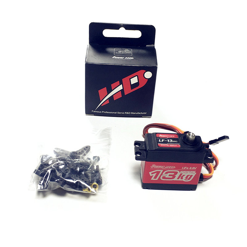 Power HD LF-13MG 13kg/0.12s Metal Gear High Torque Standard Digital Servo for RC Car Boat Crawler Buggy On-road jx pdi 6221mg 20kg large torque digital standard servo for rc model