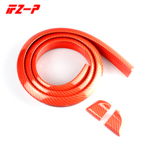 FZ-P Car Universal Red Carbon Rear Spoiler Soft Rubber Wing Fit for Rear Automotive Spoiler 1.5 Meters