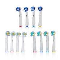 4 piezas cabezas de cepillo de dientes de reemplazo para la higiene Oral B Cruz hilo dental de acción de precisión de cerdas suaves de cepillos de dientes cabezas
