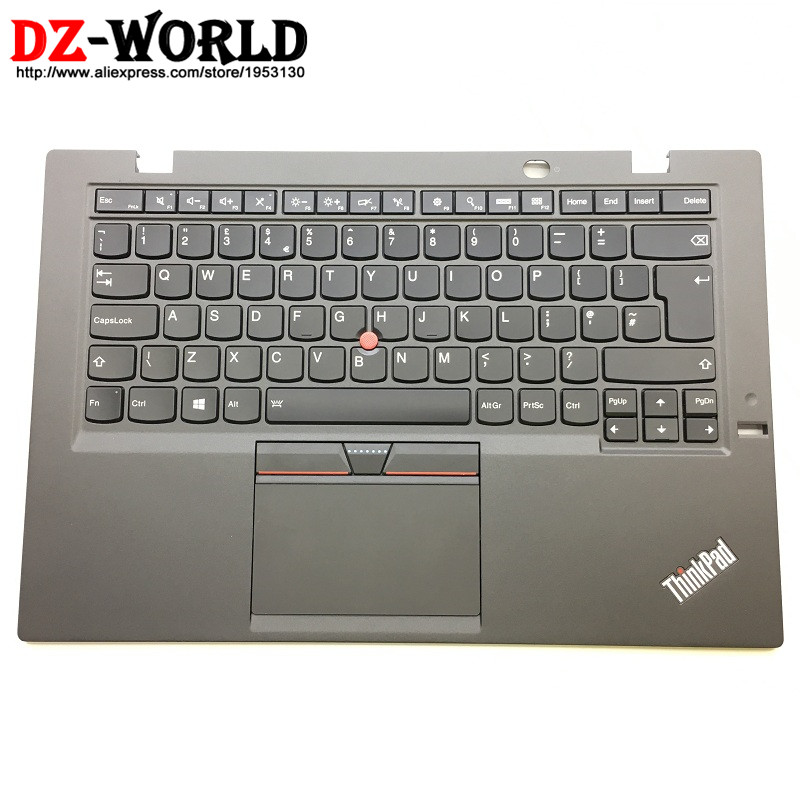 New Original for Thinkpad X1 Carbon 3rd Gen 3 TYPE: 20BS 20BT UK English Backlit Keyboard with Palmrest Touchpad 00HT329 00HN974 new original for lenovo thinkpad x1 tablet thin keyboard 20gh 20gg us english backlit backlight palmrest touchpad black 01aw600