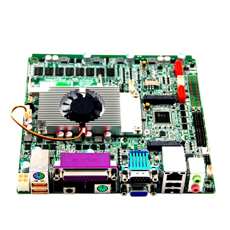 Hotselling ATX Power Mini itx Motherboard , 1037u Processor , 2GB Ram , 2 Coms, VGA/LPT