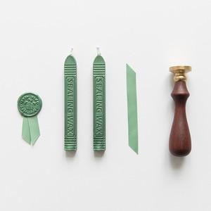 Image 4 - Retro luksusowa kreatywność farba wosk zestaw DIY Handmade wstążka etykieta śliczne koperty znaczki pieczęć na zaproszenie na ślub prezent dekoracji