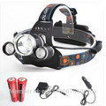 Lampe Frontale Linternas Frontales Cabeza Qi Ling 6000lm 3xxml-t6 Led Headlamp Headlight Head Torch+18650+ac/usb/car Charger