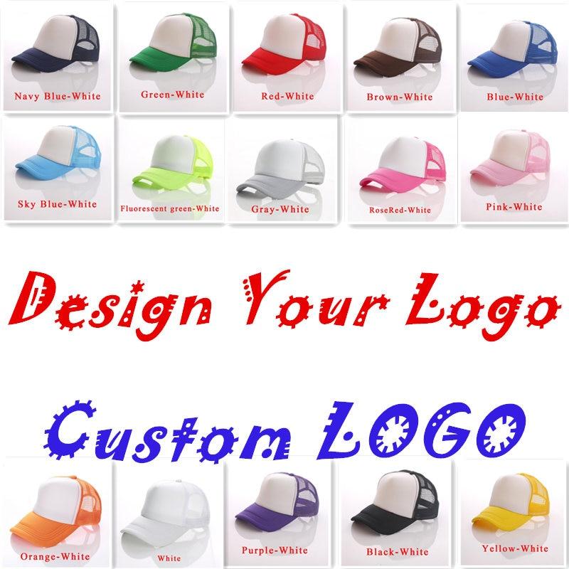 70aff19e20e880 Free Custom Logo Baseball Cap Kids Trucker Hat 100% Polyester Hats Blank  Mesh Cap Boys Girls gorras ~ Hot Deal July 2019