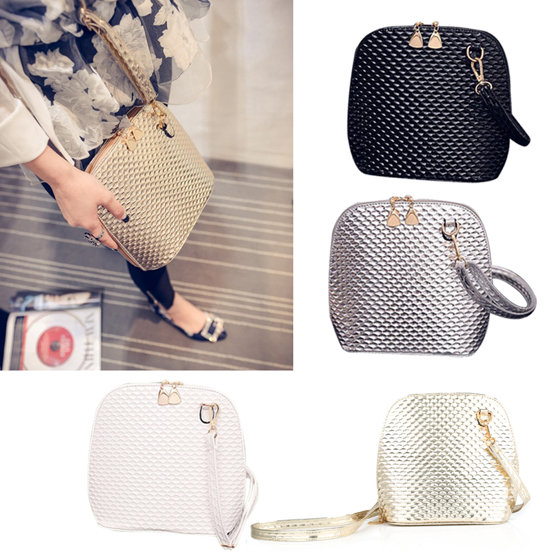 New Crossbody Shoulder Women Messenger Bags Paint Bright Surface Scale Pattern Wave Styling Bag New