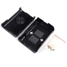 Черный Пластик Дело Box В виде ракушки крышка литья можно установить вентилятор охлаждения для Raspberry Pi 2/3 Модель B/b +