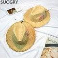 Moda Bordado Mujeres Sombreros de Sun 2017 Nuevo Rafia Playa Flamingo Chapeau Sombreros Para Niñas Verano Femme
