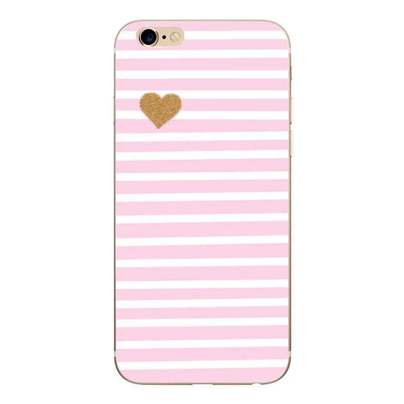 Heart Print carcasa para Iphone 6 S 6 S funda accesorios para teléfono pareja coque fundas para Iphone 8 Plus Iphone5 5S SE X XS 7 8 Plus fundas