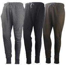 Новинка, повседневные длинные хлопковые прямые брюки, модные мужские повседневные Летние джоггеры, одноцветные длинные штаны с карманами и завязками