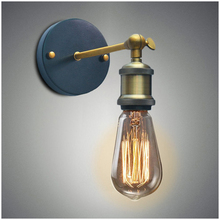 Vintage Industrial Wall Sconce Lights Retro Wall Lamp 110V-220V E27/E26 Indoor Bedroom Bathroom Balcony Bar Aisle Lamp цена
