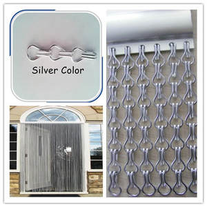 durable silver color chain link curtain
