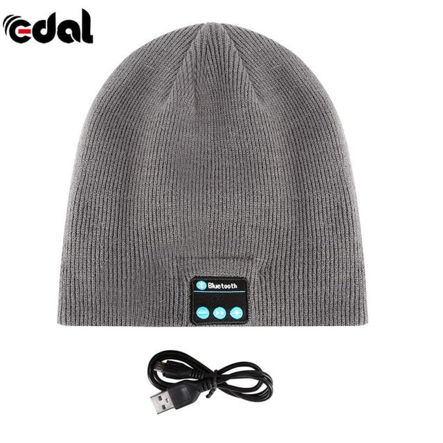 EDAL Soft Warm Beanie Hat Earphone Wireless Bluetooth Smart Cap Headset  Headphone Speaker Mic Bluetooth Hats 1eca04dfbde