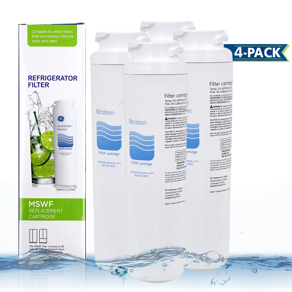 все цены на Hot! Household Water Purifier Hydrofilter MSWF Refrigerator Water Filter Cartridge Replacement for GE MSWF Filter 4 Pcs/lot онлайн