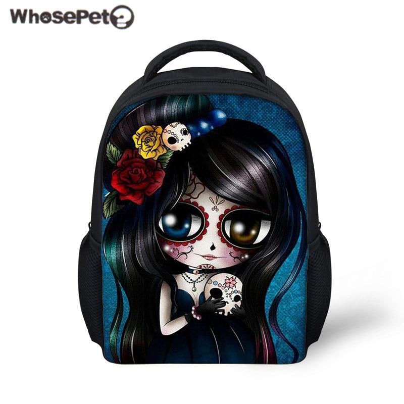 258b9207e8 WHOSEPET Kids School Bag Cute Kawaii Skull Printing School Backpack for  Baby Girls Kindergarten Bookbag Mini Rucksack Bolsa 2018-in School Bags  from Luggage ...