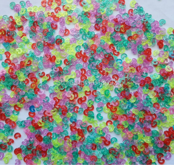 Free Shipping(1KG/Bag) Colorful S-CLIPS For DIY Loom Bands Bracelet Clip S or C CLIPS Transparent Refill LOOM KIT loom bands для дома йошкар