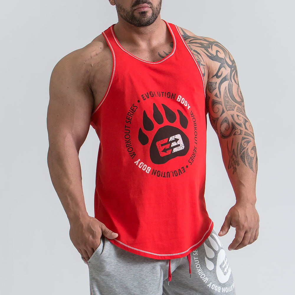 2019 NEW Summer GYM Vest Sport Tank Tops Men Running Sleeveless Sport T Shirt Fitness Bodybuilding in Trainning Exercise T shirts from Sports Entertainment