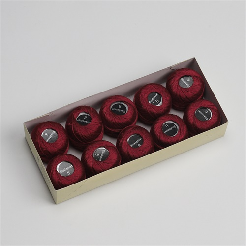 Размер 8, жемчужная хлопковая нить для вышивки крестиком, размер 43(5 грамм) на шарик, Двойной Мерсеризованный длинный штапельный хлопок, 10 шт./цвет - Цвет: 395