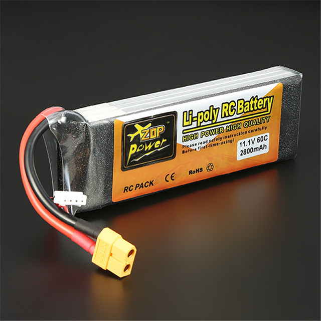 New Arrival ZOP Power 11.1V 2800mAh 3S 60C Lipo Battery XT60 Plug For RC Toys Models