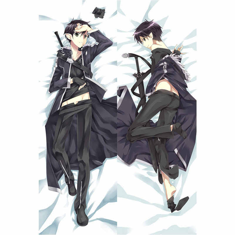 Anime Sword Art Online pillow Cover sexy Asuna Kirito Pillowcase 3D Double-sided Bedding Hugging Body pillowcase Customize SAO03