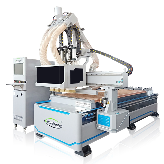 China Multi Heads Spindle 1325 CNC Machine 3D Wood Carving Machine For Woodwork Industry Furniture