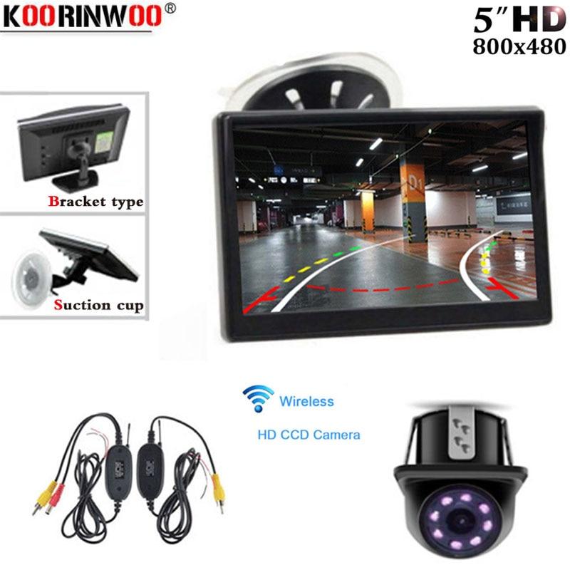 Koorinwoo Car Parking System Kit Wireless Dynamic Trajectory  Backup Rear View Camera+5