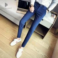Zeeshant 2018 New Designer Spring Autumn Slim Fit Straight Wedding Dress Suit Pants Mens Fashion Office