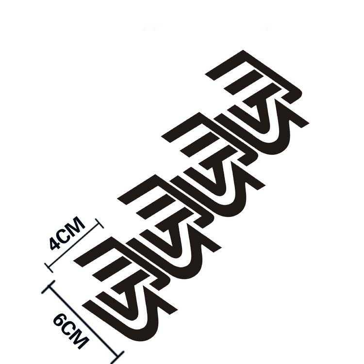 Aliauto 4 X MS Logo Autocollant de Voiture Réfléchissant Et Décalque B Colonne Pour Mazda 2 Mazda 3 Mazda 6 Mazda cx 5 cx-7 mx-5 mx-7