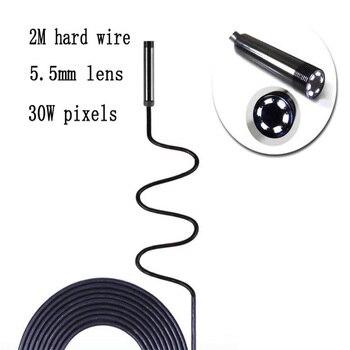 Endoscopio de 5,5mm cámara USB Industrial endoscopio con 6 LED 2M Cable duro impermeable detección endoscopio para Android PC