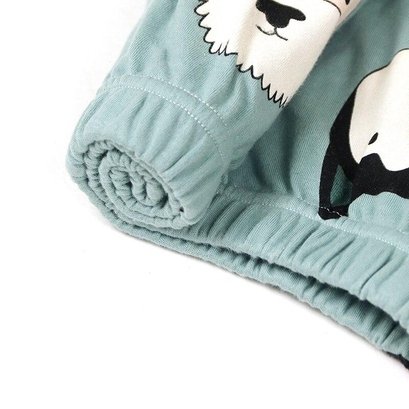 Image 3 - JRMISSLI Cartoon Dog Sexy Sleeping Pijamas Sleepwear Spring Cotton 7 Pieces Pajama Set Pyjama Femme Home Clothes-in Pajama Sets from Underwear & Sleepwears
