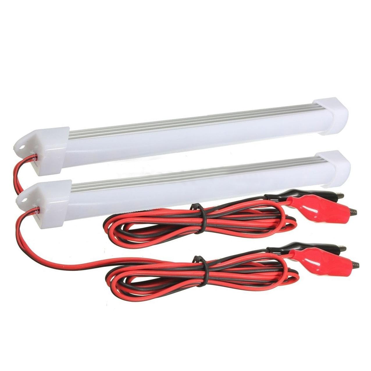 2x 12V Car LED SMD Interior Light Bar Tube Strip Lamp Van Boat Caravan Motorhome Cold White