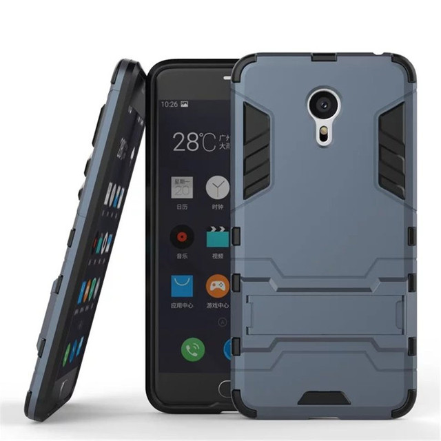 BYHeYang For Meizu M3 Note Case Slim Robot Armor Kickstand Shockproof Rubber Hard Back Case For Meizu Meilan Note 3 Phone Cover