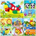 De dibujos animados de animales 3D EVA etiqueta engomada de la espuma rompecabezas juguetes para niños Niña de aprendizaje en Acción de Educación juguetes para niños regalo de la fiesta de cumpleaños