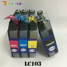 LC103 LC101 Ink Cartridge for Brother DCP j152w DCP-J152W MFC-J470DW MFC-J245 MFC-J285DW MFC-J450DW MFC-J475DW Printer 1 set refillable ink catridge for brother lc161 lc 161 for brother dcp j152w j752dw mfc j245 470dw 650dw j870dw with newest arc