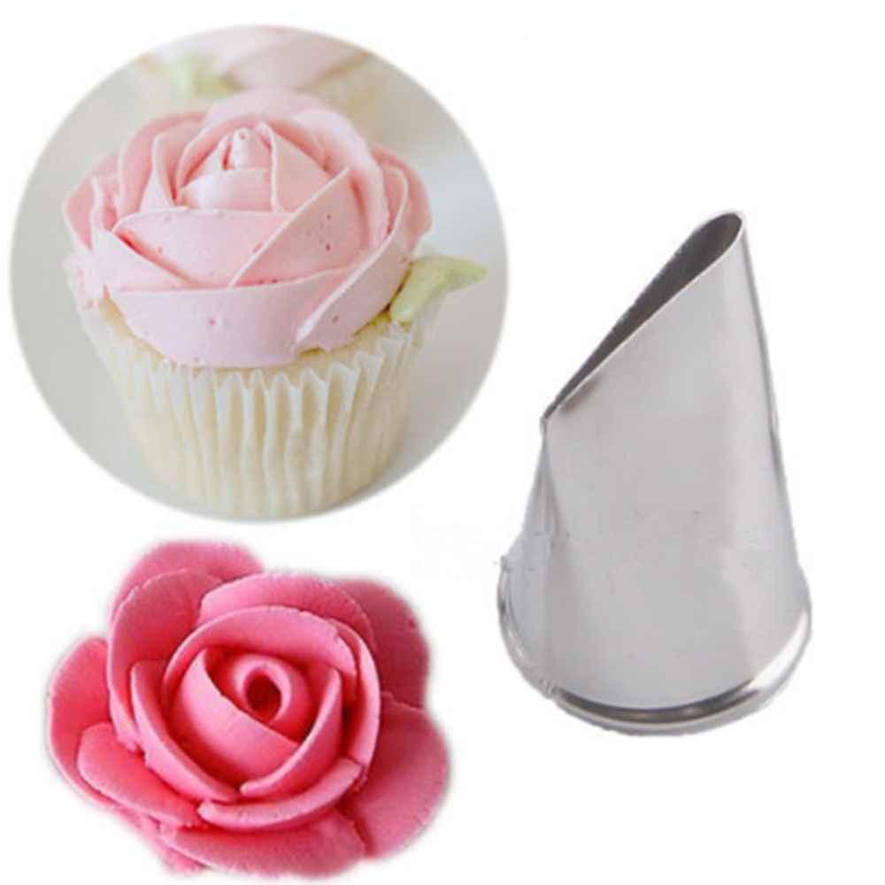 5 PC Pétala de Rosa Creme Bico Ferramenta Bolo Confeiteiro Piping Dica de aço Inoxidável Espiral Pastelaria Fondant Baking decoração Ferramentas Multi -estilo