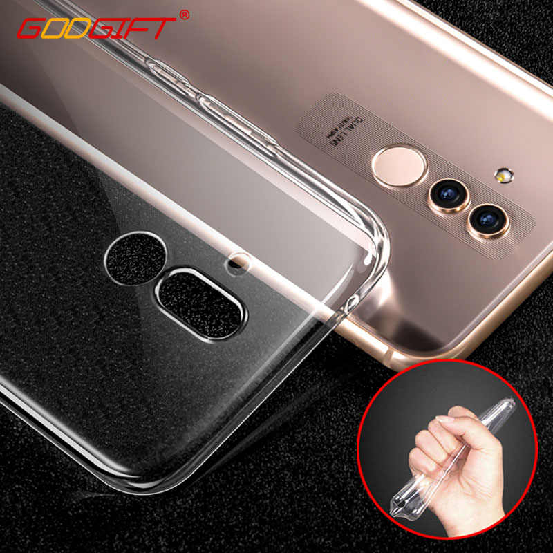 GodGift Huawei Mate 20 Lite Case Luxe Mate 20 P30 Pro Transparant Siliconen Cover Voor Huawei Mate 10 RS P20 pro Lite Back Case