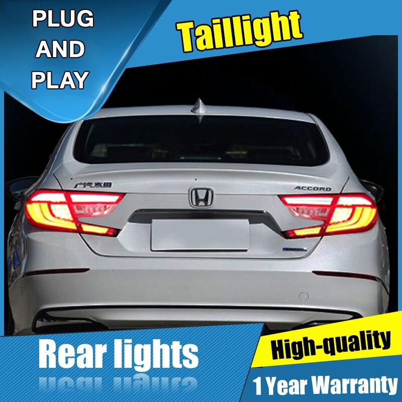 4 pièces style de voiture pour Honda Accord feux arrière tout LED 2018-2019 pour Accord tout feu arrière LED + clignotant + frein + lumière LED arrière