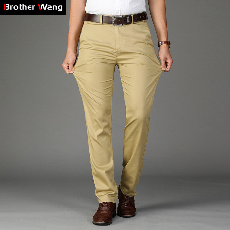 Summer New Men's Thin Casual Pants 4 Colors Classic Style Fashion Business Slim Fit Straight Cotton Solid Color Brand Trousers