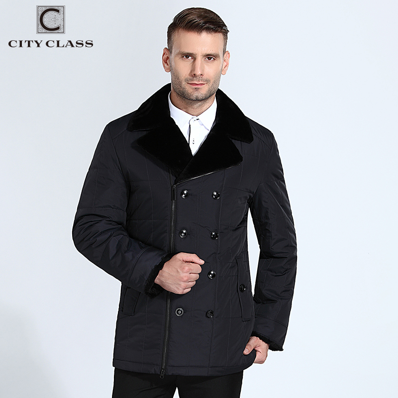CITY CLASS New men fashion casual Thinsulate sheared sheep skin turn-down collar with leather free shipment  13m129-3M