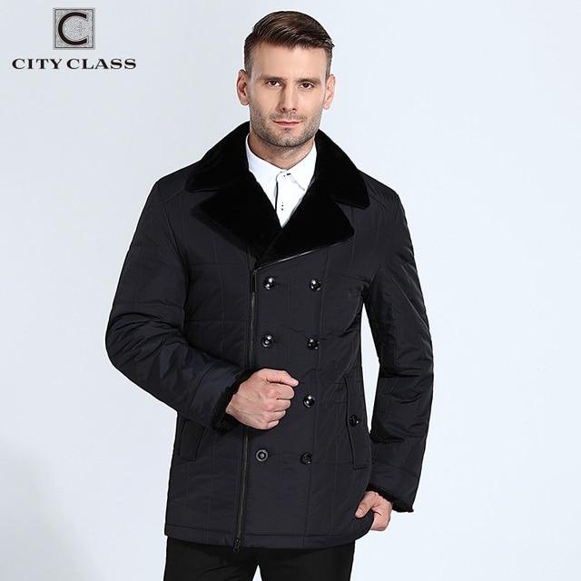 City Class куртка мужская с английский мутон воротник, тинсулейт наполнитель, новая модная деловой теплый Thinsulate косуха с мутоном с отложным воротником укращение с нотуральной кожей состав 13m129-3M