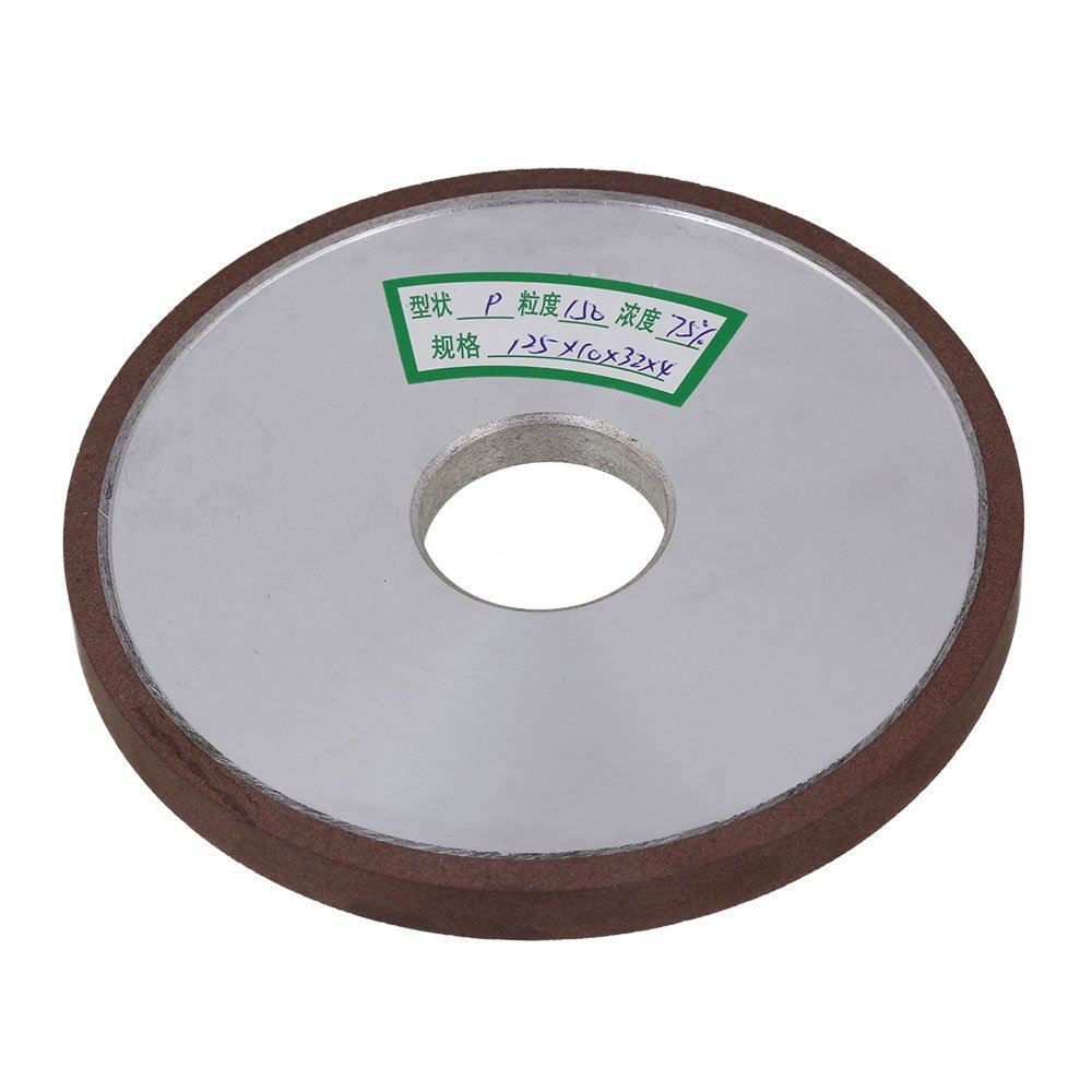 150# Grit Flat Disc Straight Silver 125x10x32mm Diamond Aluminum Resin Grinder Grinding Wheel With