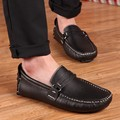 Big Size 38-47 Men's Loafers Leather Shoes Flat Autumn Man Driver Penny Loafer Fashion Casual Moccasins Sapatos Mens Dress Shoes