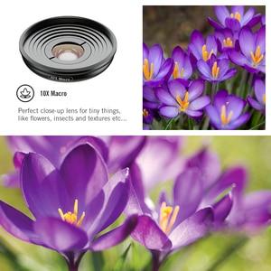 Image 5 - APEXEL HD 5 в 1 объектив для камеры телефона 4K широкоугольный макрообъектив для портрета объектив Super Fisheye CPL фильтр для iPhone Samsung всех сотовых телефонов