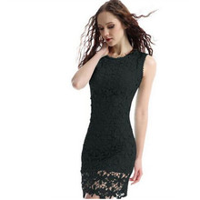 Lace Summer Dress Women For Solid White Black Cami Sleeveless Mini Lace Dress Vestidos Casual Dresses