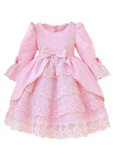 Полный рукав Девочка платья принцесс для Крещения Платья Рождество 1 Год Рождения Первое Причастие Платья для Девочек 8003