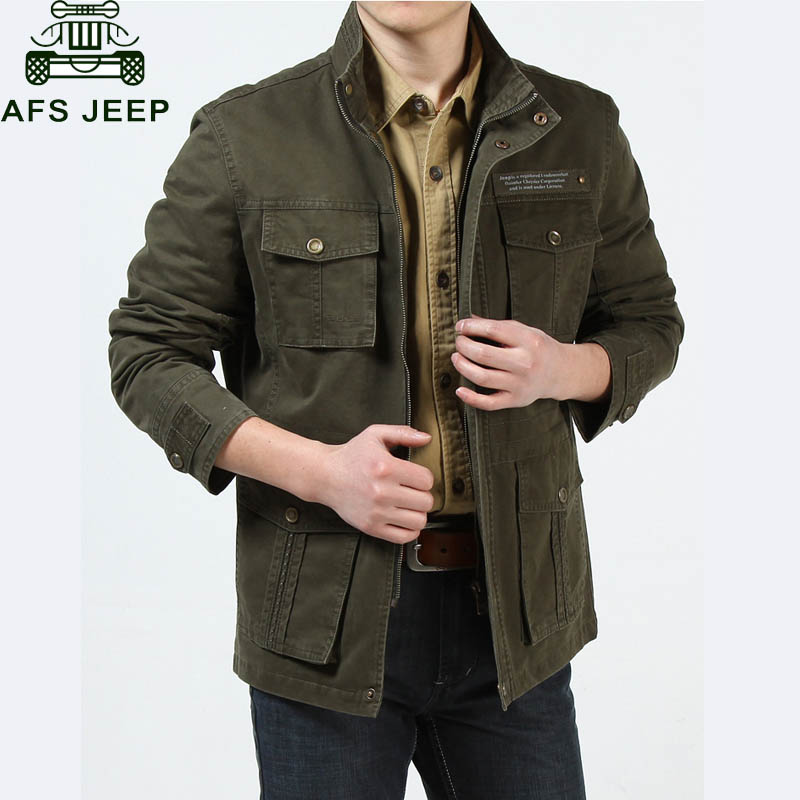 AFS JEEP Brand Jacket Men 2018 Thick Warm Fleece Winter Jacket Men Army Military Jackets Coats With Many Pockets Chaqueta Hombre-in Jackets from Men's Clothing    2