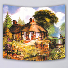 mmuju home Decor wall hanging blanket tapestry scenic beach throw towel print supersoft tapestries high quality fabric