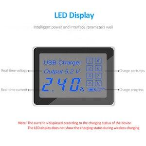 Image 3 - 40W carga rápida 3,0 Smart 8 puertos USB cargador estación LED pantalla adaptador de corriente de carga rápida escritorio tira para iPhone SAMSUNG
