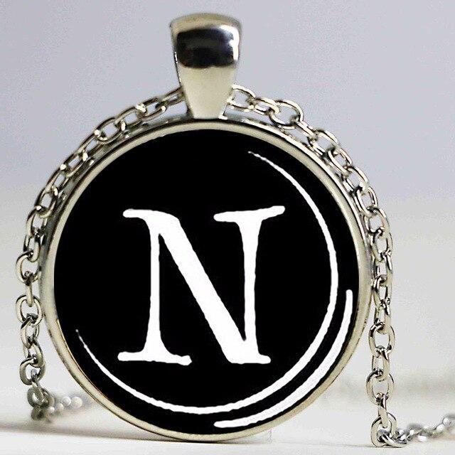 Lettre n pendentif