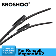 Car Wiper Blade for Renault Megane 2, 24+18inch soft rubber Auto part windscreen wiper blade accessories Free shipping 1Pair